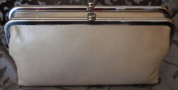 Hobo International~LAUREN Leather Double Frame Wallet~LINEN~IVORY~NWT~$128