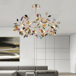 LED Modern Agate Chandelier Pendent Lamp Living Room Ceiling Lamp LED Lighting