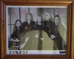 Kansas●hand Signed Vintage Promo Picture Signed By 4 Original Members●ultra Rare