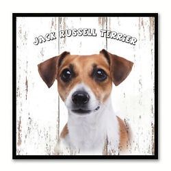 Jack Russell Terrier Dog Canvas Print with Picture Frame Gift Home Decor Wall Ar