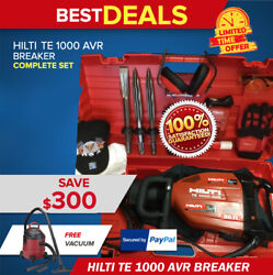 Hilti Te 1000 Avr Breaker Preowned Free Vacuum Chisels Extras Fast Ship