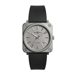 Bell And Ross Aviation Instruments Br S-92 Grey Matte Mens Automatic Watch Brs92-g