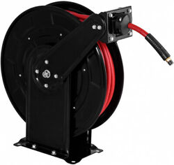 Retractable Air Hose Reel Kit 38 Inch by 65 Feet with Spring Driven Auto Rewind