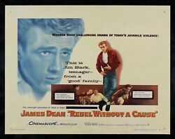Rebel Without A Cause ✯ Cinemasterpieces 1955 James Dean Original Movie Poster