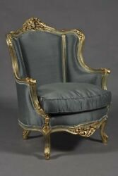 French Chair in the Louis Quinze Style Gold Plated