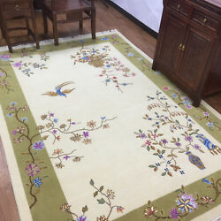YILONG 6'x9' Art Deco Wool Carpet HandKnotted Furniture Match Indoor Area Rug