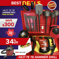 Hilti Te 76 Hammer Drill Preowned Free Vacuum Cleaner Bits And Extrasfast Ship