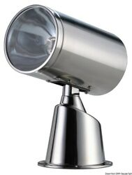 Osculati Stainless Steel Watertight Classic Electrical Spotlight 12v 100+90w