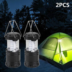 2 X Axndes Led Collapsible Camping Tent Light Portable Fishing Lantern Lamp
