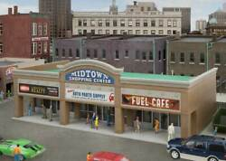 Walthers Cornerstone Ho Scale Building/structure Kit Modern Shopping Center Ii