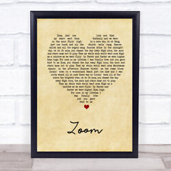 Zoom Vintage Heart Song Lyric Quote Print