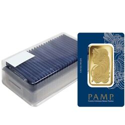 Box of 25 - 100 gram Gold Bar PAMP Suisse Lady Fortuna Veriscan (In Assay)