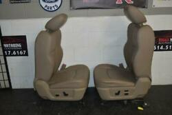 09-15 DODGE RAM POWER TAN LEATHER HEAT AIR COOLED DRIVER SEAT COMPLETE W TRACK