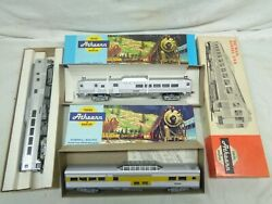 3 Vintage Athearn Ho Scale Pass. Cars R D C, In.h, Sl Vista Dome, 2172 New Haven