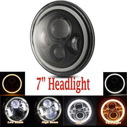 1pcs 7 Motorcycle Headlight Cree Led Turn Signal Light For Harley Cafe Racer