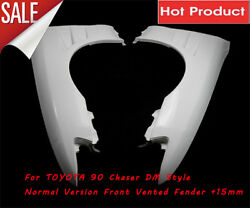 Frp Dm Style For Toyota 90 Chaser Normal Version Front Vented Fender +15mm