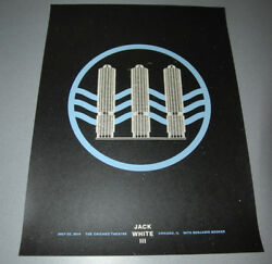 Jack White Chicago Night I 2014 Matthew Jacobson Poster Screen Print one stripes