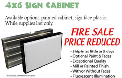 Closeout 72x48 Lighted Sign Cabinet For Outdoor