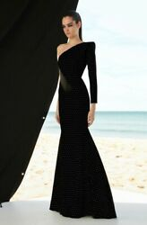 NWT Alex Perry Cantrice Crystal One Shoulder Gown *Size AUS 10 - US 6