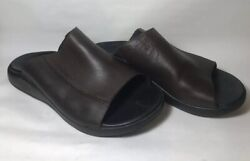 Chaco Menand039s Leather Slides - Mand039s Size 9 - Made In Portugal - Really Comfortable