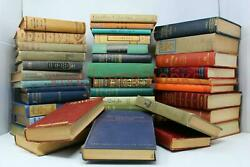 Lot of 10 Vintage Old Rare Antique Hardcover Books Mixed Color Random