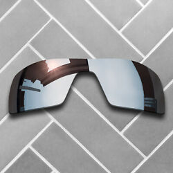 Polarized Silver Chrome Mirrored Replacement Lenses for-Oakley Oil Rig