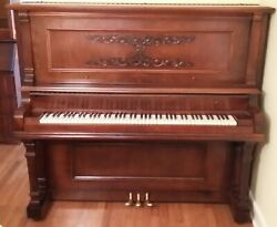 Vintage Beautiful Davenport & Treacy Upright Piano Excellent Condition No. 5758
