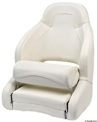 Osculati Anatomical Padded Seat Coated In White Vinyl With Open Lumbar Region