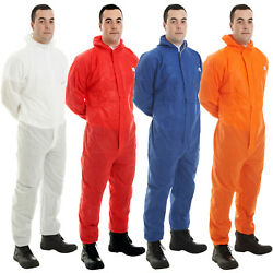 Disposable Coverall Suit Hood Paint Hygiene Farming Asbestos Grade Chemical Work