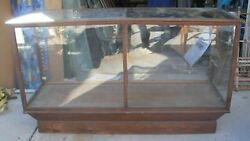 Antique Oak Glass General Store Display Showcase Ny Made A.n Russell And Sons Co.