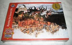 Master Pieces Jigsaw Puzzle Running the Sacred Cliffs 1000 pc NEW horses