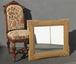 Antique Vintage Ornate Gold Wall Mantle Miirror 30 X 34