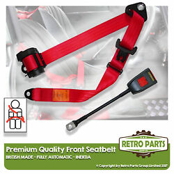 Front Automatic Seat Belt For Volvo 262c Bertoni Coupe 2dr 1977-1985 Red