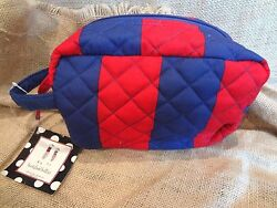 Buckhead Betties Cabana Stripe Makeup Cosmetic Dopp Kit Travel Case Bag NWT $9.98