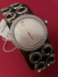 Movado Ladies Diamond Watch Ono Moda Mother Of Pearl Dial Face 3,895. Nwt.