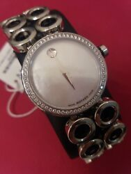 Movado Ladies Diamond Watch Ono Moda Mother Of Pearl Dial Face 3895. Nwt.