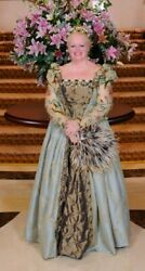 Elizabethan Gown Crown Shoes Jewels Fan...all Custom Designed And Made