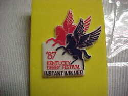 1987 Kentucky Derby Festival Instant Win Pin.mint.extremely Rare.xmas