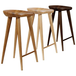 New Modern Carved Wood Barstool - 30 Contemporary Bar/counter Tractor Stool