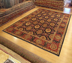 9 x 13 Hand Knotted High Quality Afghan Ziegler Rug _Veggie Dyes Hand Spun Wool