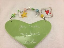 Dept 56 Sandra Magsamen Baby Theme Heart Shaped Wall Plaque Plays Lullaby