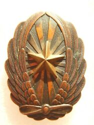 Very Rare 1920-1945 Years Imperial Japan Army Officer Pilot Badge In Bronze