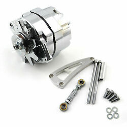 Chevy Bbc 454 100 Amp 1 Or 3 Wire Alternator And Lwp Aluminum Bracket Kit Polished