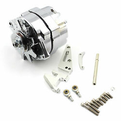 Chevy Bbc 454 100 Amp 1or 3 Wire Alternator And Swp Aluminum Bracket Kit Polished
