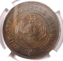 1874 South Africa Zar Pattern Penny 1d - Ngc Ms63 - Rare Certified Coin