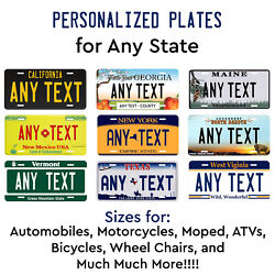 Customized License Plate Tag Personalized for Any State Auto Car Motorcycle ATV $11.99