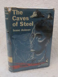 Isaac Asimov THE CAVES OF STEEL 1954 1stEd Ex-Library Bunker Hill Air Force Base