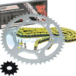 Yellow O-ring Chain Sprocket For 2001-2004 2002 2003 Yamaha Yz250 Yz 250