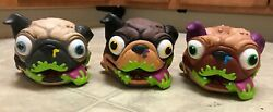 3 Lot Moose The Uggly's Pet Pug Dog Farting Gross Sound Electronic Hand Puppet