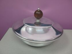 Vintage Buenilum Serving Dish With Lid And Removable Pyrex Glass Bowl